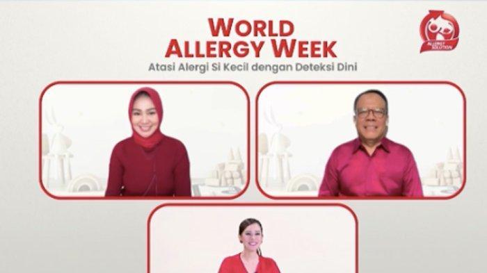 Webinar Morinaga - Kalbe Nutritionals bertajuk 'Atasi Alergi Si Kecil dengan Deteksi Dini', Sabtu (26/6/2021).