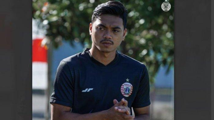 Alfath Fathier bersiap berlatih dengan Persija Jakarta