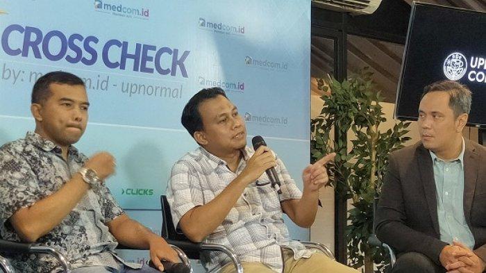 Pelaksana tugas (Plt) juru bicara KPK Ali Fikri dalam diskusi di kawasan Menteng, Jakarta Pusat, Minggu (23/2/2020).