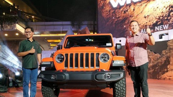 All New Jeep Wrangler saat diluncurkan di Jakarta, Sabtu (1/12/2018) malam. Pemasaran dan layanan after sales service mobil Jeep di Indonesia kini ditangani oleh PT Hascar International Motor sebagai agen pemegang merk yang baru menggantikan PT Garansindo.