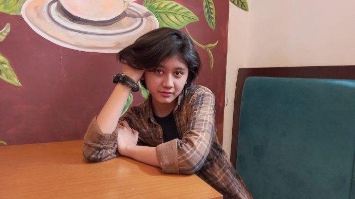 Amel Amilia  ketika ditemui di kawasan Mayestik, Kebayoran Baru, Jakarta Selatan, Sabtu (11/9/2021).