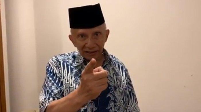 Datang ke Istana, Amien Rais Sebut Ancaman Neraka Jahanam di Depan Jokowi