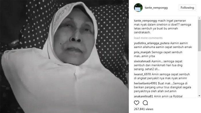 Aminah Cendrakasih,pemeran Maknyak di Sinetron Si Doel Anak Sekolahan terbaring lemah. (instagram)
