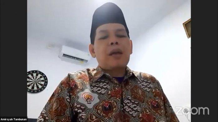 Sekretaris Jenderal MUI Amirsyah Tambunan dalam diksusi daring berjudul 'Pelaksanaan Iduladha 1442 Hijriah Aman COVID-19', yang disiarkan virtual melalui youtube BNPB, Rabu (23/6/2021).