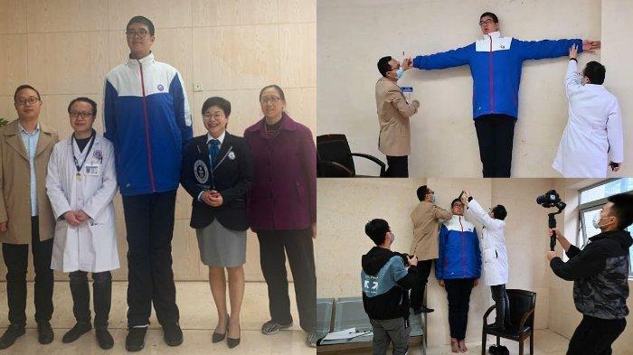 Anak 14 Tahun asal China dengan Tinggi 221 cm Dinobatkan sebagai Anak Tertinggi di Dunia