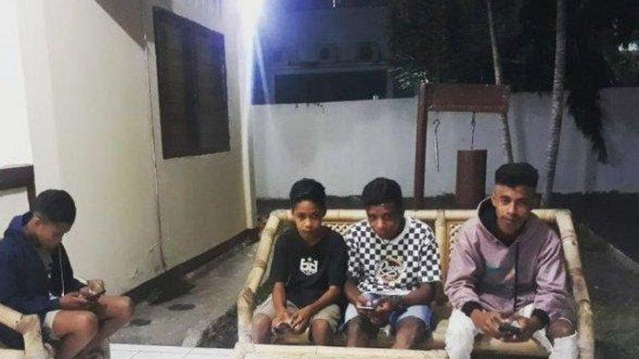 Sejumlah Anak Sambangi Polsek Alok, Minta Izin Pinjam Internet untuk Kerjakan Tugas Sekolah