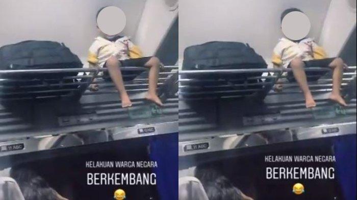 Viral Video Balita Dihukum Duduk di Rak Bagasi Kereta Api, Ini Tanggapan Psikolog Anak