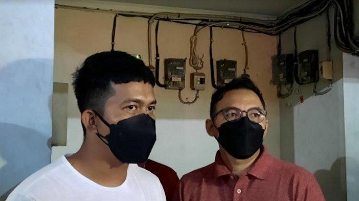 Ega Prayudi (kiri) dan Rizky Kimon (kanan) saat ditemui di RS Pusat Otak Nasional (PON), Cawang, Jakarta Timur, Jumat (24/9/2021), malam.
