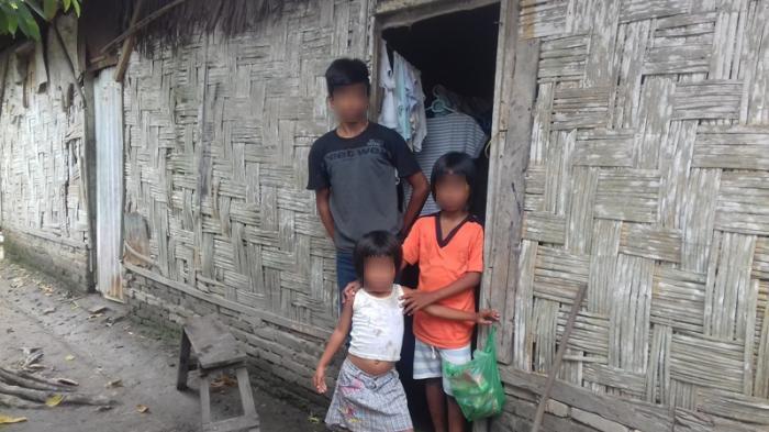 Ibu Jadi Pekerja Malam Kadang Sebulan tak Pulang, Kondisi Empat Anak Ini Memprihatinkan