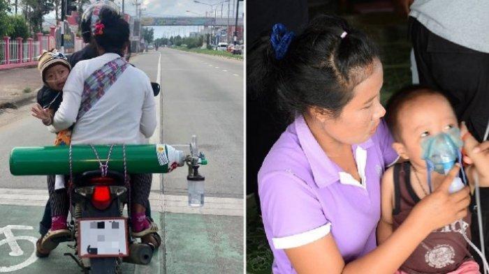 Anak Thailand Pakai Oksigen