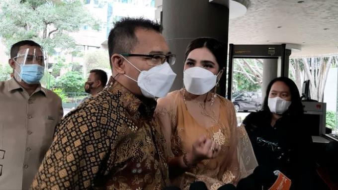 Anang dan Ashanty ketika ditemui di kawasan Sudirman, Jakarta Pusat, Sabtu (30/1/2021).