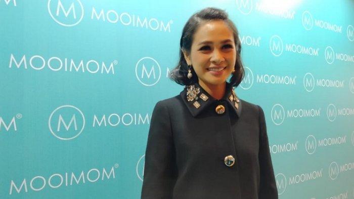 Andien Aisyah saat ditemui di acara MOOIMOM di Jakarta Selatan, Senin (16/12/2019)