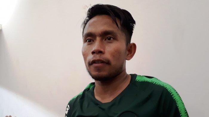 Penyerang sayap Timnas Indonesia Andik Vermansyah saat ditemui di Stadion Madya, Senayan, Jakarta, Jumat (8/3/2019). Tribunnews/Abdul Majid