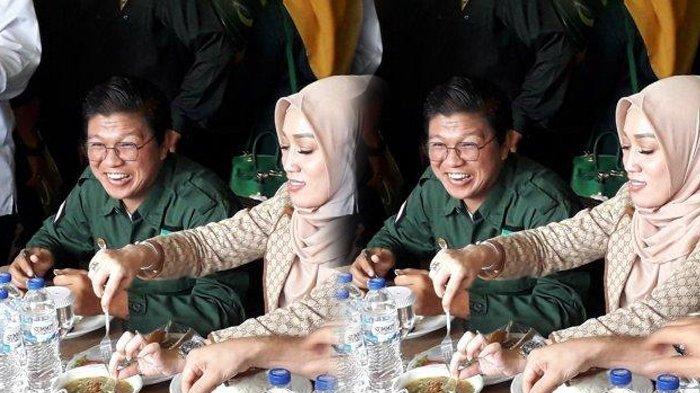 Andika Mahesa eks Kangen Band menghadiri acara Oriantasi Kepengurusan Partai Bulan Bintang (PBB) di Bumi Gumati, Bogor, Minggu (26/1/2020)