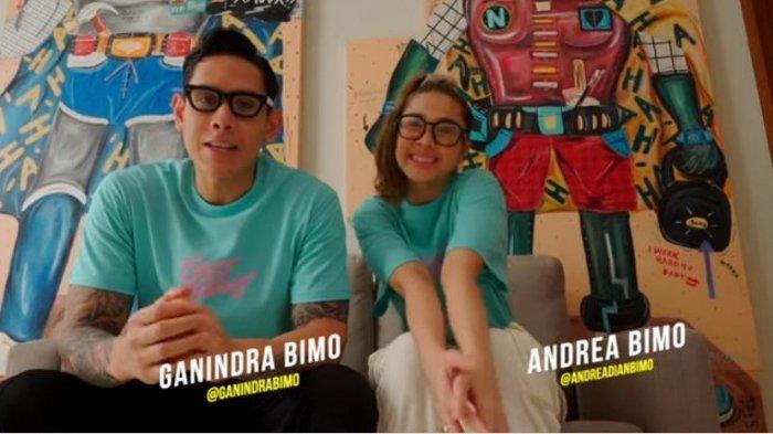 Pasangan artis Ganindra Bimo dan Andrea Dian, saling mengungkapkan perasaan ketika tahu satu di antara mereka positif corona Covid-19.