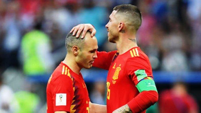 Spanyol vs Rusia: Laga Terakhir Andres Iniesta Bersama Timnas Spanyol