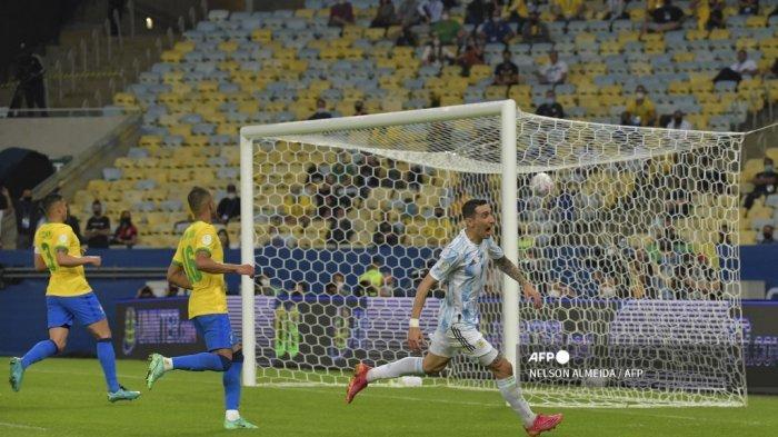 Hasil Babak I Argentina vs Brasil Final Copa America: Di Maria Cetak Gol, Selecao Tertinggal 1-0