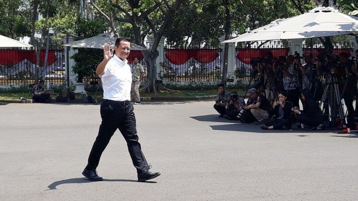 Anggota DPR RI dari DPIP Juliari Batubara dipanggil Presiden Jokowi di Istana Presiden Jakarta, Selasa (22/10/2019).