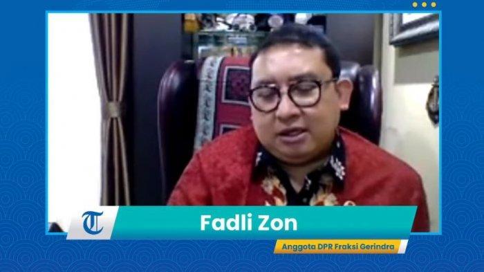 Anggota DPR RI Fraksi Partai Gerindra Fadli Zon Diginas Tribun Network,