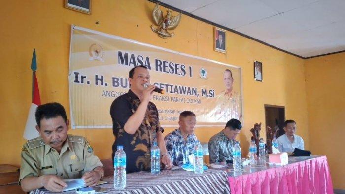 Anggota DPR RI Fraksi Golkar Budhy Setiawan Ingin Kembalikan Cianjur Sebagai Lumbung Pangan
