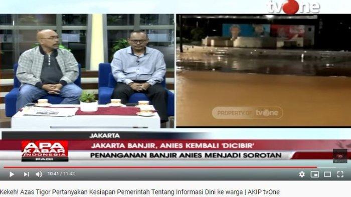 Ngaku Kerap Debat dengan Azas Tigor, DPRD Jakarta Syarif Sebut Banjir Era Anies Lebih Baik dari Ahok