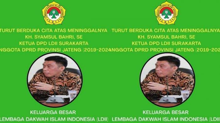 Sebelum Meninggal Terpapar Covid-19, Anggota DPRD Jateng Syamsul Bahri Sempat Bagi-bagi Sembako