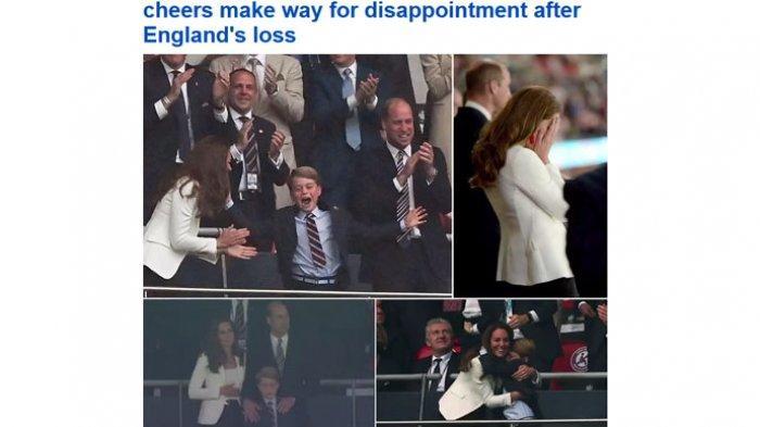Senyum Bahagia Berganti Wajah Masam, Penggawa Kerajaan Inggris Kena 'Prank' Kemenangan Italia