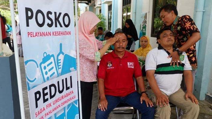 4 Petugas PPK dan KPPS di Surabaya Meninggal, yang Lain yang Terkena Darah Tinggi dan Nyeri Otot