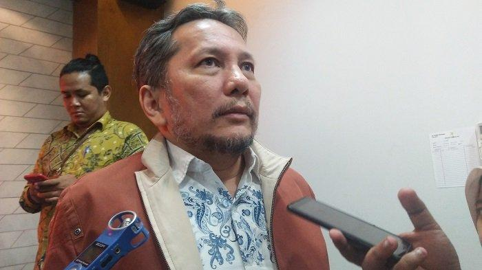 Anggota Ombudsman RI Alamsyah Saragih usai konferensi pers di kantor Ombudsman RI, Jakarta Selatan pada Rabu (3/7/2019).