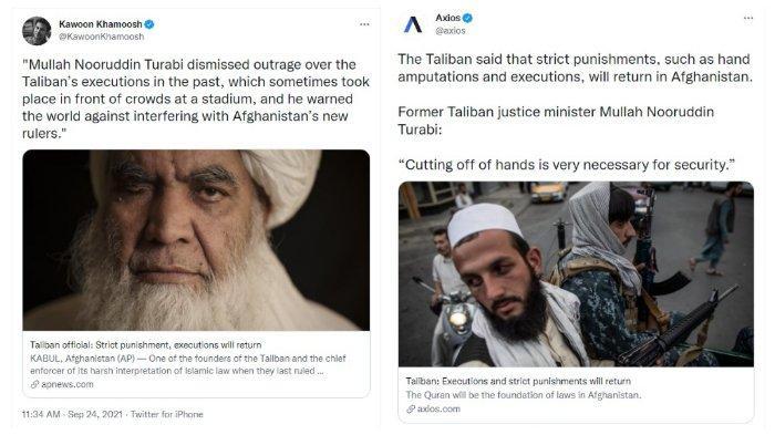 Anggota senior Taliban Mullah Nooruddin Turabi sebut hukuman garis keras akan diberlakukan kembali