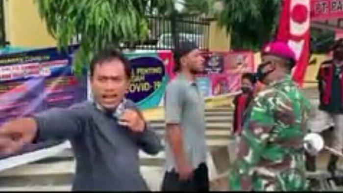 Dua Pria di Bandar Lampung Cekcok dengan Personil TNI AL Gara-Gara Masker