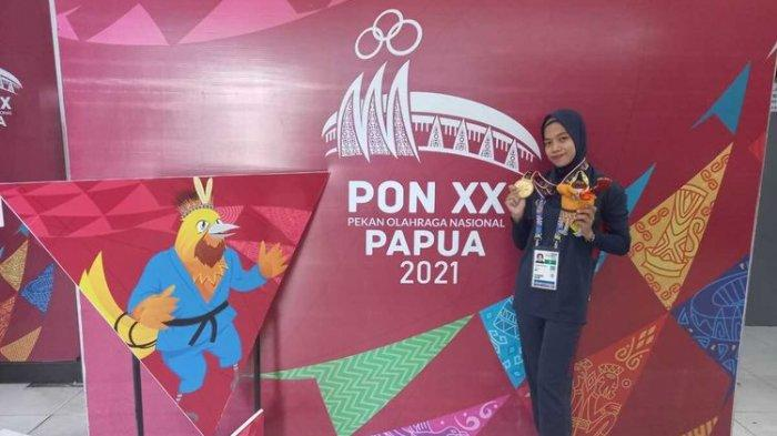 Anggun Nurajijah, atlet judo asal Karawang yang menyabet medali emas di PON XX Papua.