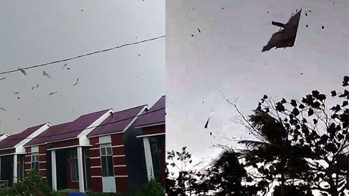 Angin Puting Beliung hantam Rumah Warga Kubu Raya