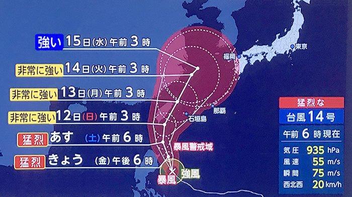 Badan Meteorologi Jepang: Topan Dahsyat Memasuki Okinawa, Bergerak Hingga Selatan Jepang
