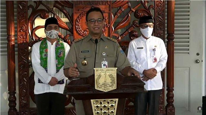 Gubernur DKI Jakarta Anies Baswedan mengeluarkan Peraturan Gubernur (Pergub) No 47 Tahun 2020 tentang Pembatasan Bepergian baik masuk atau keluar Provinsi DKI Jakarta, Jumat (15/5/2020). (YOUTUBE/PEMPROV DKI JAKARTA)