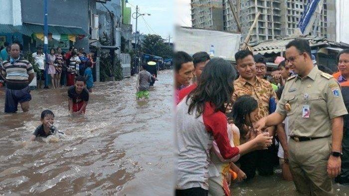 Gubernur Anies Baswedan sebut anak-anak senang bermain di luapan air banjir Jakarta