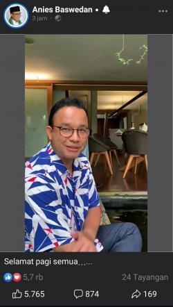Anies Bagikan Aktivitas di Tepi Kolam Ikan: 'Harus Ekstra Hati-hati, Biar Gak Kecemplung Dua Kali'