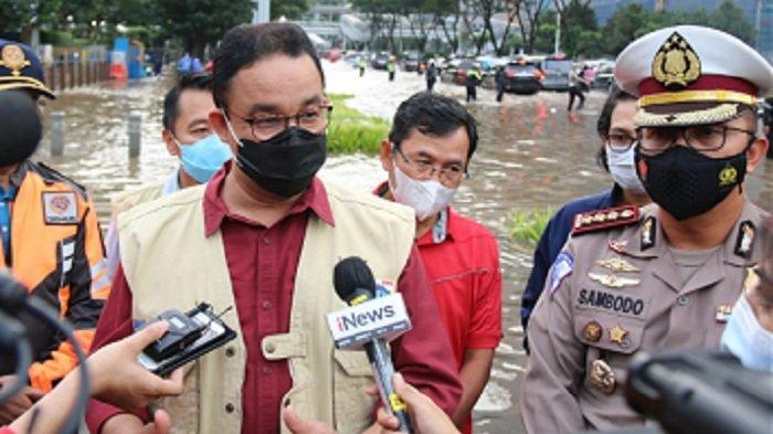 Anies Pastikan Situasi di Jakarta Tetap Terkendali Meski Curah Hujan Tinggi Sejak Jumat