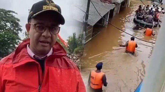 Anies Baswedan Sapa Masyarakat Terkait Banjir di Jakarta, Ungkap di Luar Kendali & Himbau Masyarakat