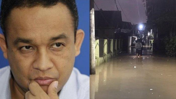 Hingga malam ini ketinggian banjir di RW 04 Kelurahan Cipinang Melayu yang sempat ditinjau Gubernur DKI Jakarta Anies Baswedan masih mencapai 70 sentimeter pada Jumat (19/2/2021).