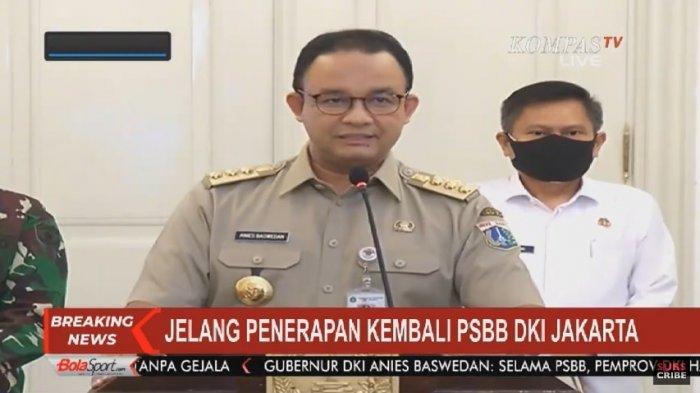 Gubernur DKI Jakarta, Anies Baswedan akan kembali menerapkan Pembatasan Sosial Berskala Besar (PSBB) mulai Senin (14/9/2020).