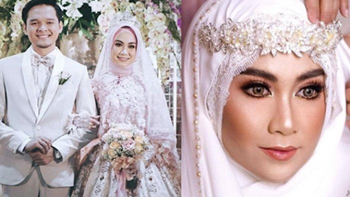 Cantiknya Anisa Rahma Pakai Gaun Pengantin Pink di Resepsi Pernikahannya, Syar'i Tapi Elegan