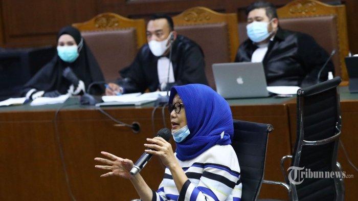 Mantan Pengacara Djoko Tjandra, Anita Kolopaking memberikan keterangan pada sidang lanjutan kasus suap dan gratifikasi pengurusan fatwa Mahkamah Agung (MA) Djoko Tjandra, Pinangki Sirna Malasari di Pengadilan Tipikor, Jakarta Pusat, Rabu (25/11/2020). Sidang tersebut beragendakan pemeriksaan saksi dari pihak Jaksa Penuntut Umum (JPU) yakni mantan Pengacara Djoko Tjandra, Anita Kolopaking dan Andi Irfan Jaya. Tribunnews/Irwan Rismawan