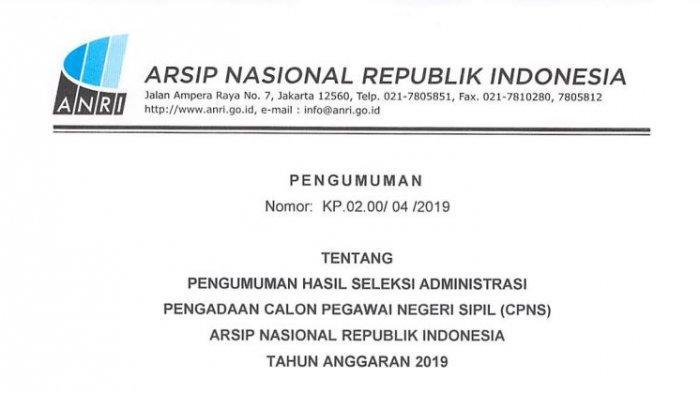 36+ Hasil seleksi administrasi cpns kemenkumham 2019 pdf info