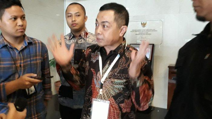 Capim Komisi Pemberantasan Korupsi Antam Novambar menjalani tes wawancara dan uji publik di Gedung 3 Lantai 1, Setneg, Jakarta Pusat, Selasa (27/8/2019)