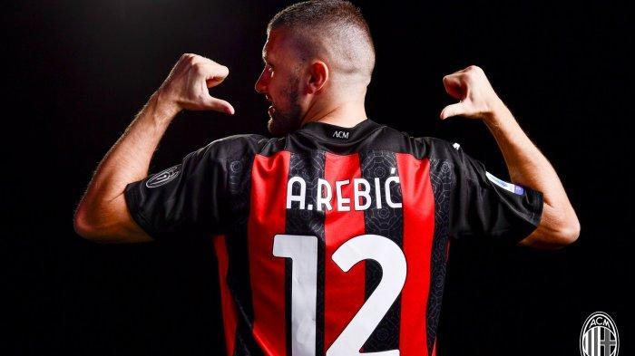 Ante Rebic mengenakan nomor punggung 12 setelah dipermanenkan AC Milan