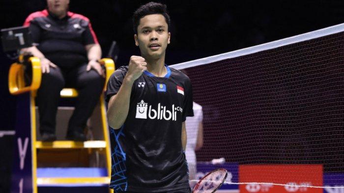 Sempat Kalah di Ajang Asian Games, Anthony Ginting Jadi Juara di China Open 2018