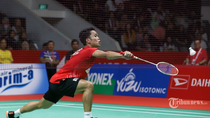 SEDANG Berlangsung Ginting vs Antonsen di Final Indonesia Masters 2020, Live Streaming TVRI Disini