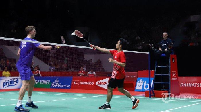HASIL Thailand Open 2021, Kandas dari Viktor Axelsen, Anthony Ginting Gagal Melangkah ke Final
