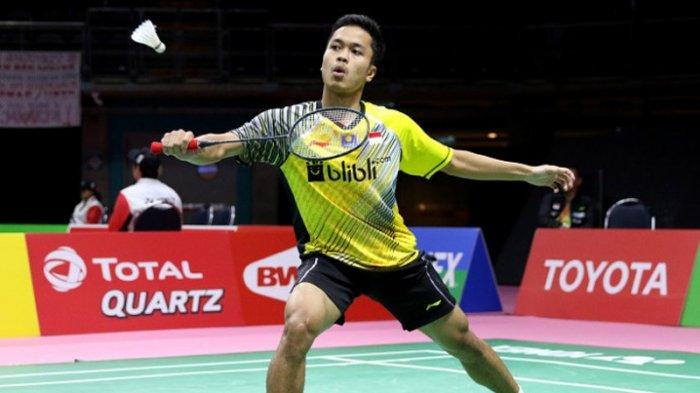 Piala Thomas 2018: Anthony Ginting Kalah Dua Gim Langsung dari Chen Long, Indonesia Tertinggal